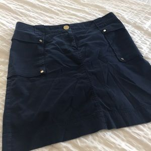 Tory Burch navy blue skirt GUC!